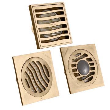 九牧/JOMOO 铜镀铬卫生间浴室洗衣机防臭地漏套装,10*10cm,02106-RB-1