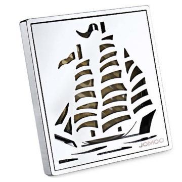 九牧/JOMOO 不锈钢加厚帆船淋浴地漏92200,外形尺寸为:100mm*100mm,92200-1B-1