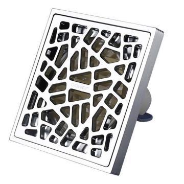 九牧/JOMOO 304不锈钢防臭亮面大排量浴室地漏,外形尺寸为:100mm*100mm,92230-1B-1