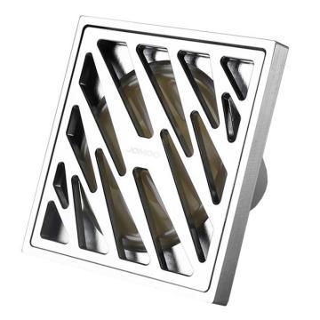九牧/JOMOO 304不锈钢大排量防臭下水地漏,外形尺寸为:100mm*100mm,92208-1B-1