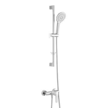 九牧/JOMOO 单把淋浴龙头升降杆套餐,进水口中心距:150,淋浴出水口墙距:50,外接螺纹:G1/2B,装饰盖大小:φ60,35287-126/1B-1