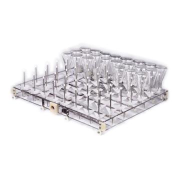 标准清洗架,单次可以清洗56支三角瓶、试管、量筒烧杯,喷柱间距70