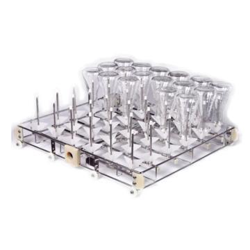永合创信 标准清洗架,单次可以清洗36支250ML三角瓶、试管、量筒烧杯,喷柱间距90mm,CWIR36