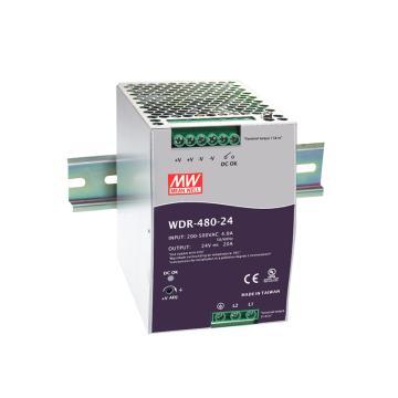 明緯MEANWELL 導軌開關電源,WDR-480-24