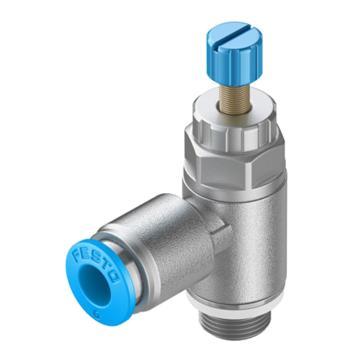 費斯托/FESTO單向節流閥,帶快插接頭,排氣節流型,GRLA-1/8-QS-8-RS-D,534337