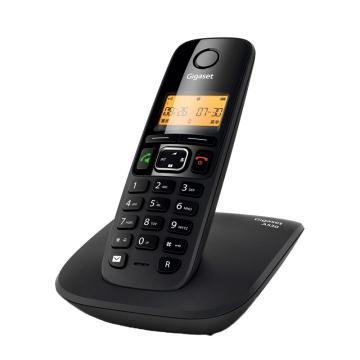 集怡嘉 無繩電話機,無線家用座機 A530,黑色單機