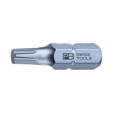 """PB SWISS TOOLS 6.3mm(1/4"""")六角柄梅花螺丝批批头螺丝刀刀头,T15*25mm,PB C6.400/15,10支/盒"""