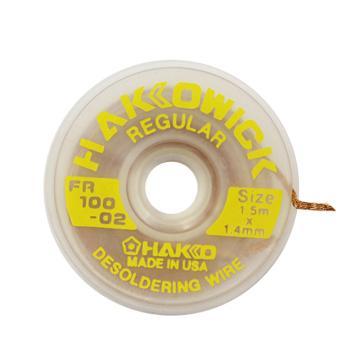 白光HAKKO 吸锡线带网线,1.5m*1.4mm,FR100-02,25卷/包,吸锡网线 PCB主板吸锡线 吸锡带