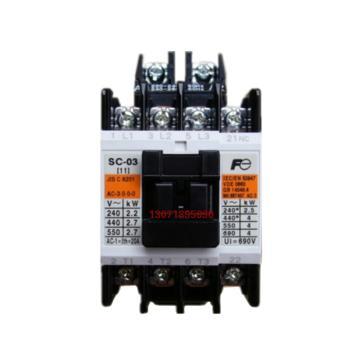 富士电机Fuji Electric 交流接触器,SC-03 AC220V(1NO/1NC,下单请备注)