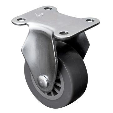 易得力(EDL) 定向聚氨酯(PU)脚轮,脚轮小型2寸35kg,26102-262-73