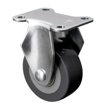 易得力(EDL) 定向聚氨酯(PU)脚轮,脚轮小型2寸40kg,26102-262-76