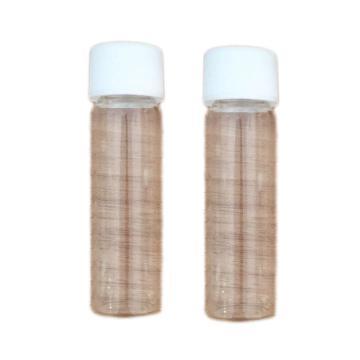 螺纹口透明样品瓶 40mL 100/盒 (27.5*95mm实心黑规格24-400螺纹口40ML透明样品瓶+无孔盖+垫片