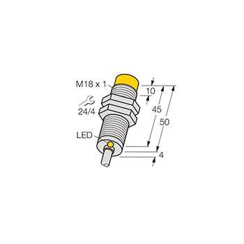 图尔克 接近传感器,NI8–M18-AP6X 5M
