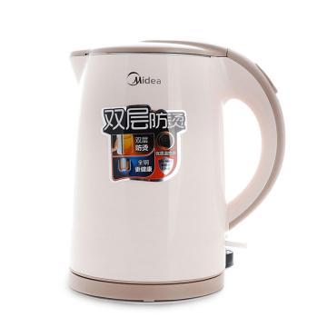 美的(Midea)电热水壶,H415E2j ,烧水壶304不锈钢1.5L