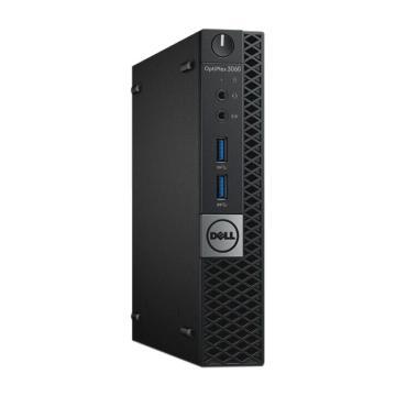 戴尔(DELL)台式机电脑,3060MFF,I3-8100T/4GB*1 2666/128G/蓝牙无线/WIN10 HOME64
