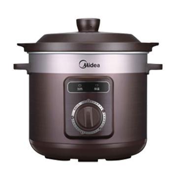 美的(Midea)電燉鍋,TGH40D,280W 4L 陶瓷煲湯家用全自動煮粥燉湯