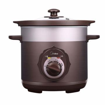 美的(Midea)电炖锅,MD-TGH30C ,200W 3L 电沙锅煮汤煲粥 南国陶釜内胆