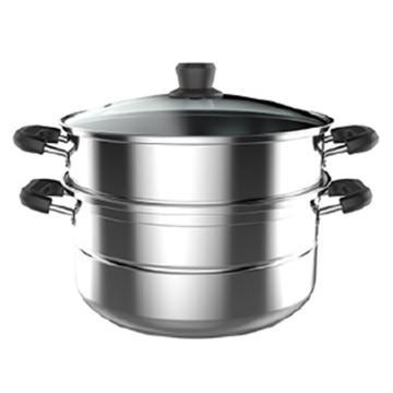 美的(Midea)蒸锅, 二层 不锈钢锅 26CM 复底锅, ZG26Z01