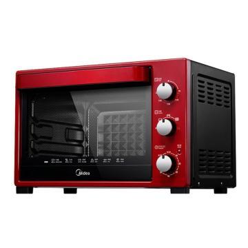 美的(Midea)电烤箱, T3-321C, 红色 4管均衡发热32L