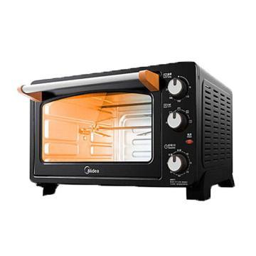 美的(Midea)电烤箱,T3-252C, 3D环绕式加热25L 黑色