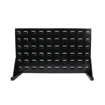 力王 桌面掛板架/2112,顏色:黑色,產品尺寸(mm):543*205*330(含零件盒:15個藍色HSB210)