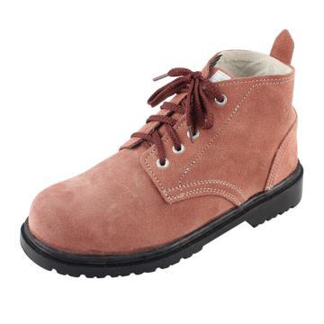 盾王 安全鞋,9788-7-44,翻毛皮防砸安全鞋