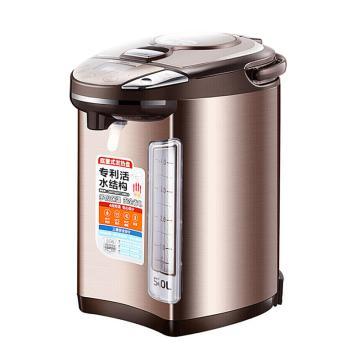 美的(Midea)电热水瓶,PF704C-50G,热水壶电水壶 304不锈钢 5L多段温控