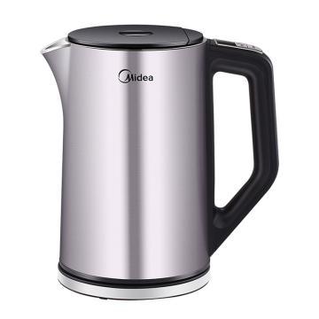美的(Midea)电热水壶,HE1504a ,热水壶 304不锈钢水壶1.5L双层防烫全钢无缝烧水壶