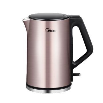 美的(Midea)电水壶,MK-HJ1510a ,304不锈钢电热水壶1.5L家用双层防烫