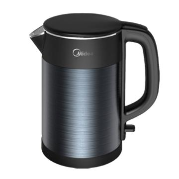 美的(Midea)电水壶, HJ1511a ,家用1.5L电热水壶 双层防烫 304不锈钢一体无缝胆烧水壶