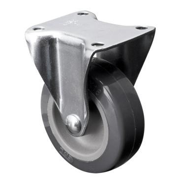 易得力(EDL) 定向聚氨酯(PU)脚轮,脚轮小型2寸30kg,20102-202-72
