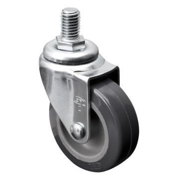 易得力(EDL) 丝口万向聚氨酯(PU)脚轮,脚轮小型2寸30kg,20132/M10X15-202-72