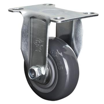 易得力(EDL) 定向聚氨酯(PU)脚轮,脚轮轻型2.5寸80kg,361025-3625-76