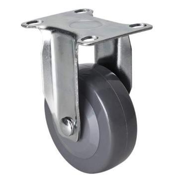 易得力(EDL) 定向聚氨酯(PU)脚轮,脚轮轻型3寸70kg,36103-363-74