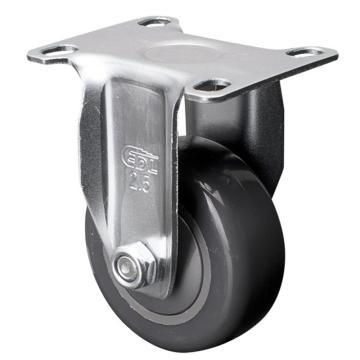 易得力(EDL) 定向聚氨酯(PU)脚轮,脚轮轻型2.5寸80kg,371025-3725-77