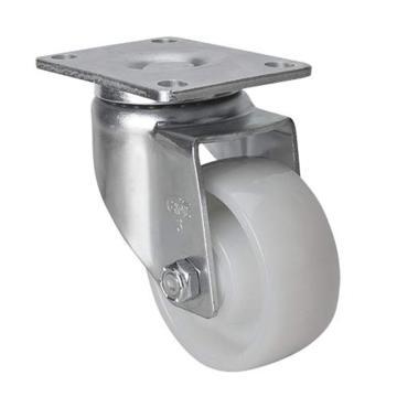 易得力(EDL) 平頂萬向尼龍(PA)腳輪,腳輪中型3寸130kg,50113-503-25
