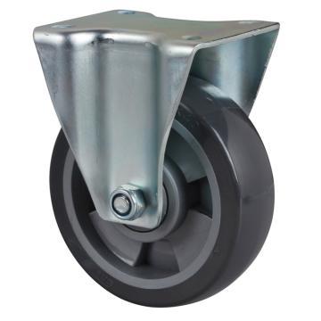 易得力(EDL) 定向聚氨酯(PU)脚轮,脚轮中型5寸200kg,64105-645-76