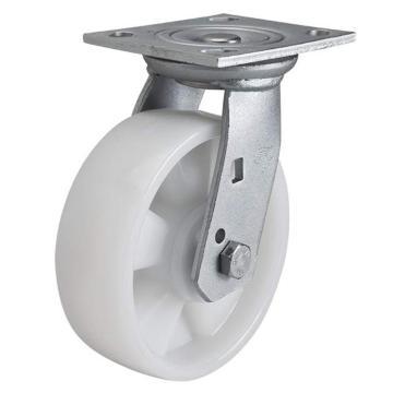 易得力(EDL) 平頂萬向尼龍(PA)腳輪,腳輪重型6寸420kg,70116-706-26