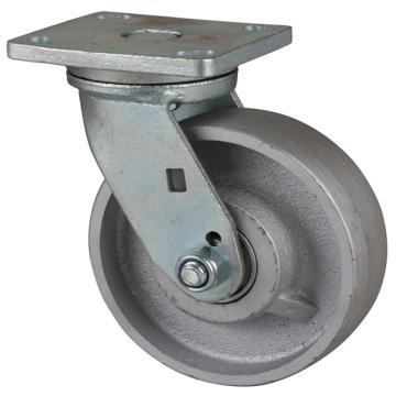 易得力(EDL) 平顶万向铸铁(CastIron)脚轮,脚轮重型6寸950kg,78116-786-96