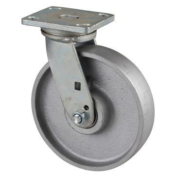 易得力(EDL) 平顶万向铸铁(CastIron)脚轮,脚轮重型8寸1000kg,78118-788-96
