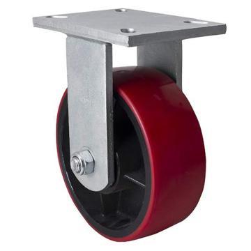 易得力(EDL) 定向高强度聚氨酯(TPU)脚轮,脚轮重磅8寸1400kg,93108-938-86T