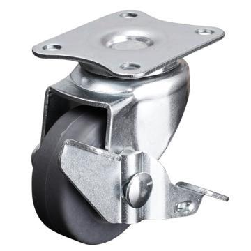 易得力(EDL) 平顶刹车超级人造胶(TPE)脚轮,脚轮小型1.5寸30kg,201215A-2015-52/A