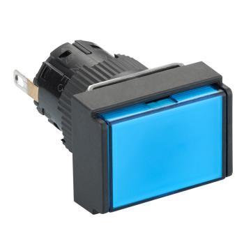 施耐德Schneider 指示灯,长方形 蓝色 带24V LED,XB6EDV6BF(5的倍数订货)