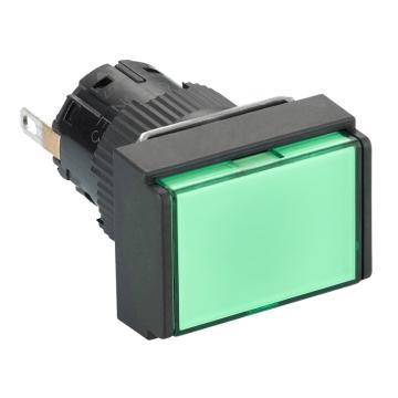 施耐德Schneider 指示灯,长方形 绿色 带24V LED,XB6EDV3BF(5的倍数订货)