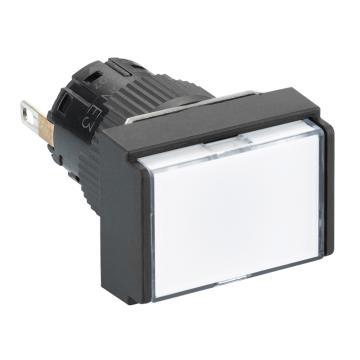 施耐德Schneider 指示灯,XB6EDV1BF 长方形 白色 带24V LED(5的倍数订货)