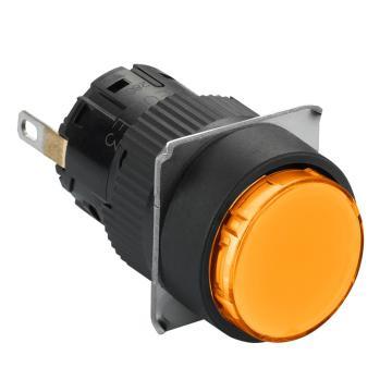 施耐德Schneider 指示灯,圆形 橙色 带24V LED,XB6EAV8BF