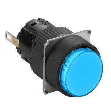 施耐德Schneider 指示灯,圆形 蓝色 带24V LED,XB6EAV6BF
