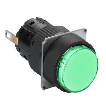 九州彩票Schneider 指示灯,圆形 绿色 带24V LED,XB6EAV3BF