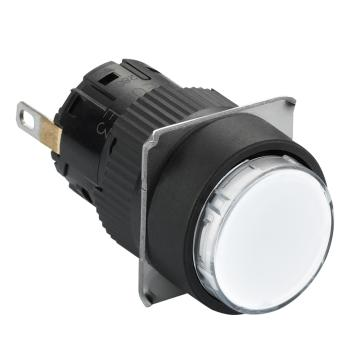 施耐德Schneider 指示灯,圆形 白色 带24V LED,XB6EAV1BF