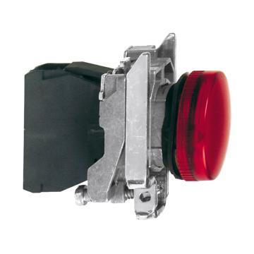 施耐德電氣Schneider Electric 金屬指示燈,LED燈 紅色 48-120VAC,XB4BVG4